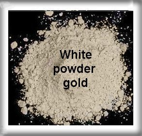 gold whit powder