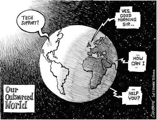 outsourced world